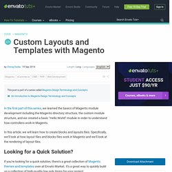 Custom Layouts and Templates with Magento