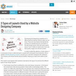 3 Types of Layouts Used by a Website Designing Company
