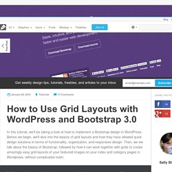 How to Use Grid Layouts with WordPress and Bootstrap 3.0