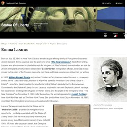 Emma Lazarus - Statue Of Liberty National Monument (U.S. National Park Service)