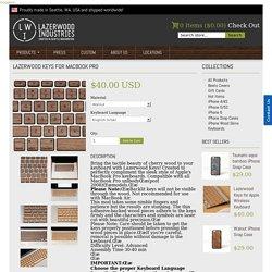 Lazerwood Keys for MacBook Pro