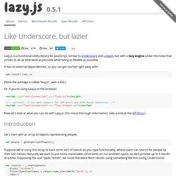 Lazy.js - v0.3.2