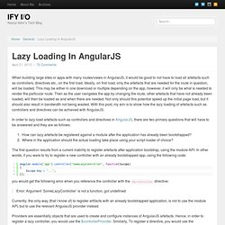 Lazy Loading In AngularJS