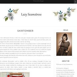 Lazy Seamstress: Skirtember