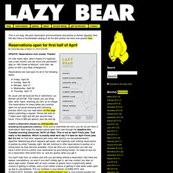 Lazy Bear Underground Restaurant