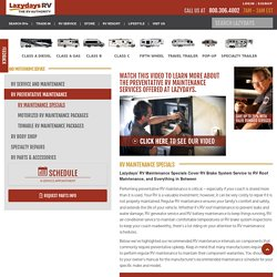 RV Roof Maintenance, Brakes, AC & More