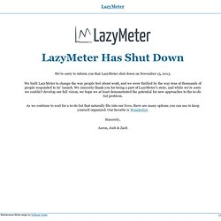 Is Getting Things Done Out of Date? « LazyMeter