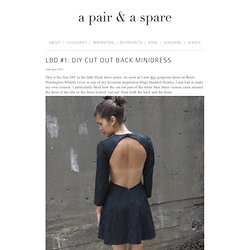 LBD #1: DIY Cut Out Back Minidress