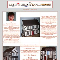 1) Free Dollhouse Plans & Instructions