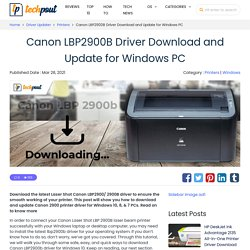 Canon LBP2900/2900B Driver Download and Update for Windows PC