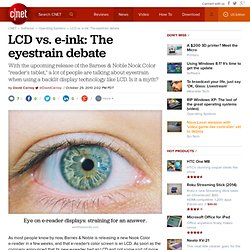 LCD vs. e-ink: The eyestrain debate
