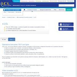 LCL Particuliers Agence en ligne e.LCL