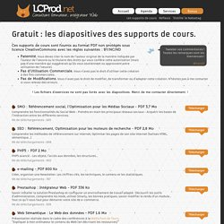 LCProd.net : Les diapositives des supports de cours.