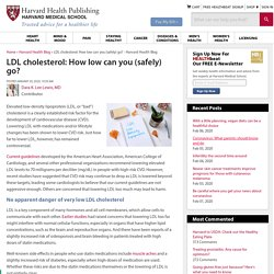 LDL cholesterol: How low can you (safely) go?