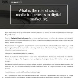 What is the role of social media influencers in digital marketing?