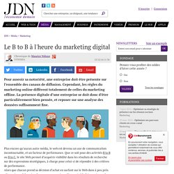 Le B to B à l'heure du marketing digital