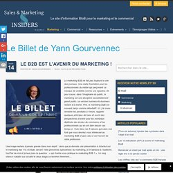 Le B2B est l'avenir du marketing !