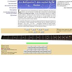 Le Balezator® des notes de la basse