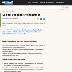 Le basi pedagogiche di Bruner