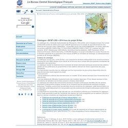 Le BCSF - Sismicité de la France