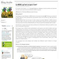 Le BDD, qu'est ce que c'est? - Blog Arolla