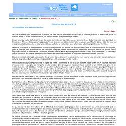 Le BGV - Editorial du BGV n°172
