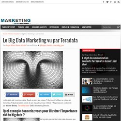 Le Big Data Marketing vu par Teradata