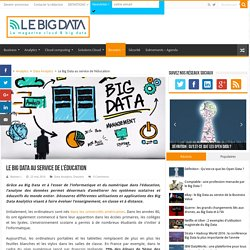 Le Big Data au service de l'éducation