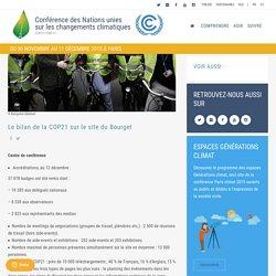 Le bilan de la COP21 sur le site du Bourget