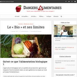 Le «Bio» et ses limites