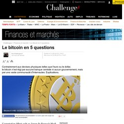 Le bitcoin en 5 questions - 22 août 2015