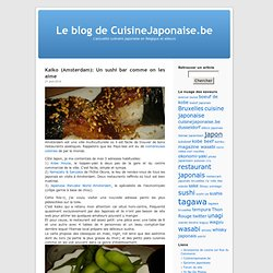 Le blog de CuisineJaponaise.be