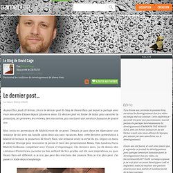 Le Blog de David Cage