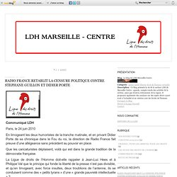 Le blog de LDH Marseille-Centre