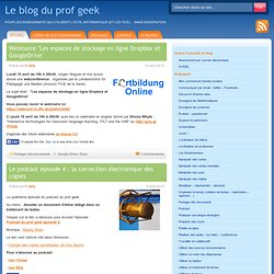 Le blog du prof geek