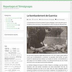 Le bombardement de Guernica