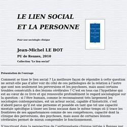 Le Bot - Le lien social et la personne