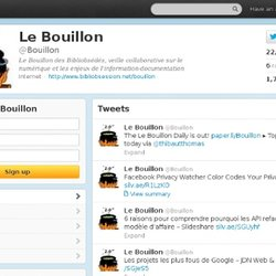 Bouillon (Bouillon) on Twitter