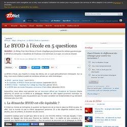 Le BYOD à l'école en 5 questions