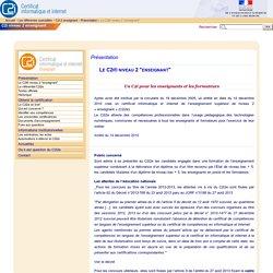 """Le C2i® niveau 2 """"enseignant"""" - Portail C2i"""