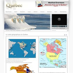 Le cadre géographique du Québec