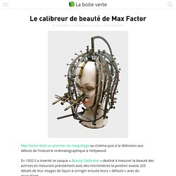 Le calibreur de beauté de Max Factor