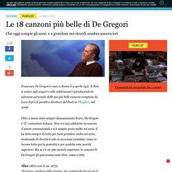 Le 18 canzoni più belle di De Gregori