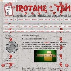 IPOTÂME ....TÂME: Le carnet numératif CE1