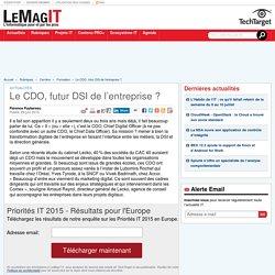Le CDO, futur DSI de l'entreprise ?