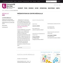 Le centre MédiaLille - MédiaLille