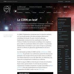 Le CERN en bref
