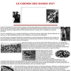 LE CHEMIN DES DAMES 1917