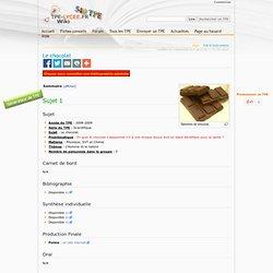 Le chocolat - Wiki.TPE