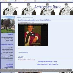Le Cid- Corneille- ( L) - Lettres en ligne